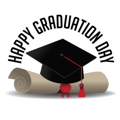 Graduation Day icon EPS 10 vector