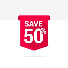 Save 50% Long Shadow Ribbon