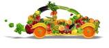 Automobile composta di frutta e verdura