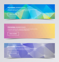 Polygonal banners for business modern background design