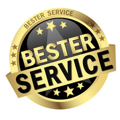 button with text Bester Service