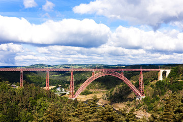 Garabit Viaduct, Cantal Department, Auvergne, France