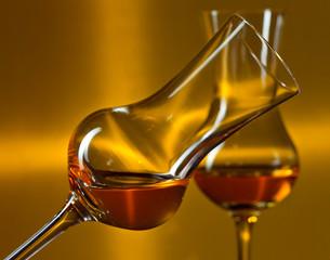 glasses with liqueur