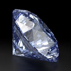Blue Diamond. Realistic Vector Illustration