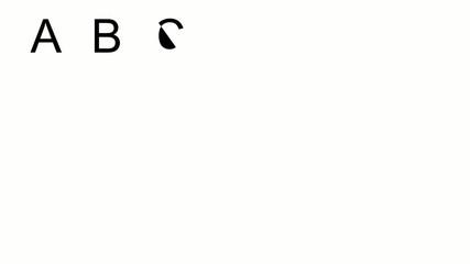 Gezeichnetes Alphabet - Großbuchstaben