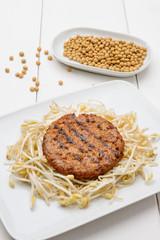 hamburger di soja, fuoco selettivo