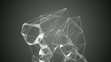 Abstrakte Verbindung von Linien und Flächen