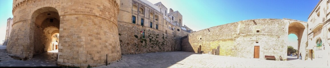 Otranto. panoramic view of the fortification