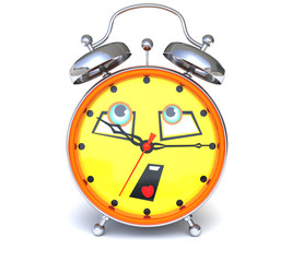 Alarm clock with face