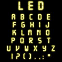 Led alphabet yellow