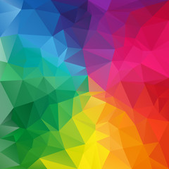 vector polygonal background triangular full spectrum rainbow