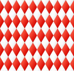 nahtloses Rautenmuster in rot - weiß Farben