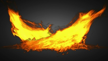 loop alpha matted fire