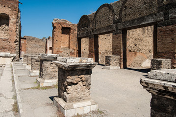 Ruins of Pompeii, Italy. Pompeii is an ancient Roman city died f