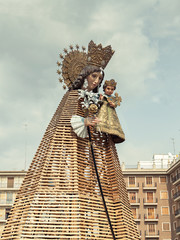 """VALENCIA, SPAIN - MARCH 15: """"Virgen de los Desamparados"""",patron"""