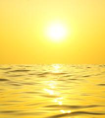 Bright sun over the sea.