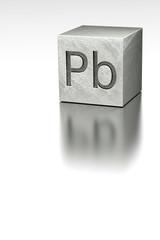 Lead cube with Plumbum mark