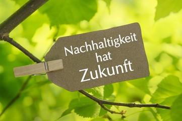 Nachhaltigkeit hat Zukunft - Label