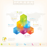 Modern 3d infographic template. Can be used for workflow layout