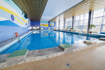 public swimming pool interior