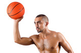 Fototapeta Young basketball player isolated on white