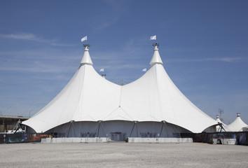 white pavillion tent structure
