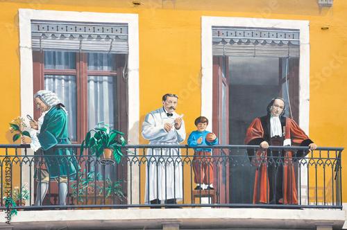 Fototapeta Lyon, Francia, Fresco de los lioneses, arte urbano