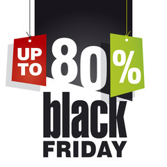 Black friday Sale up to 80 percent off black background