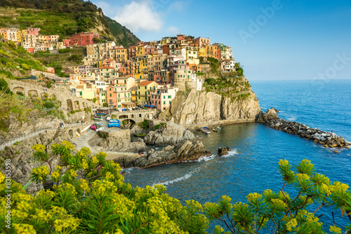 Town on the rocks Cinque Terre Liguria Italy