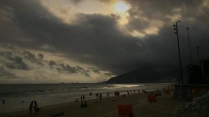 Ipanema Beach Rio de Janeiro Sunset Time Lapse
