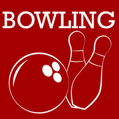 silhouette  of bowling