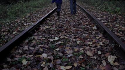 going on railway track