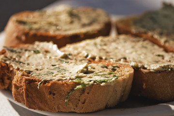 bread with garlic butter