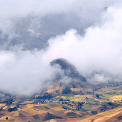 Clouds on the fields of Zumbahua in Ecuadorian Altiplano, Andes