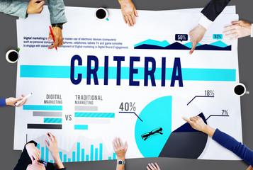 Criteria Conduct Information Commandments Regulation Concept