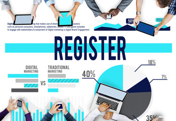 Register Membership Join Application Concept