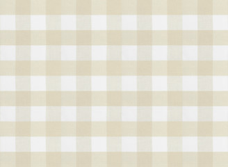 checkered brown tablecloth or fabric texture