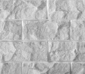 White marble stone brick wall background or texture