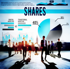 Shares Finance Marketing Business Budget Concept