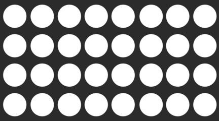 fundo preto com bolas brancas