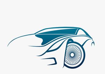 Sportive car logo