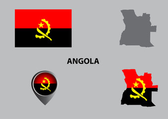 Map of Angola and symbol