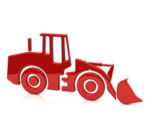 Red bulldozer icon