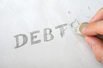 Erase debts with eraser