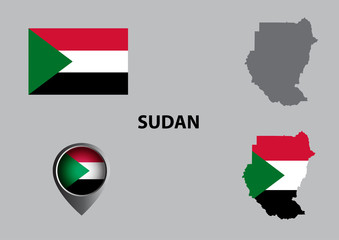 Map of Sudan and symbol