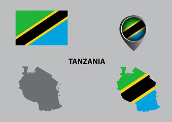 Map of Tanzania and symbol