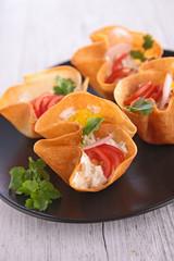 buffet food, canape