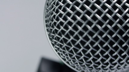 Microphone on the rack