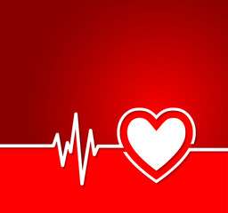 Heart cardiogram with heart shape concept.Useful as background f