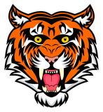 very enraged bengal tiger  poster